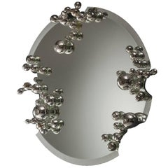 Bubble Mirror in Handblown Borosilicate Glass