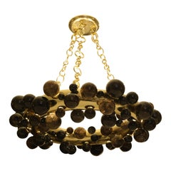 Bubble Ring Rock Crystal Chandelier by Phoenix