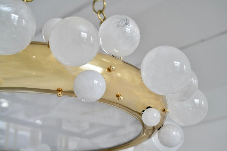 Bubble Rock Crystal Chandelier by Phoenix In New Condition For Sale In New York, NY