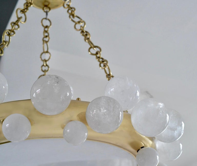 Contemporary Bubble Rock Crystal Chandelier by Phoenix For Sale