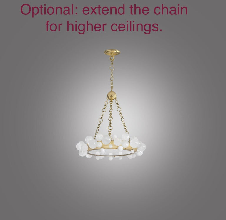 Bubble Rock Crystal Chandelier by Phoenix For Sale 3