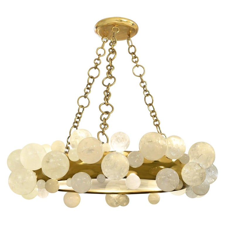 Bubble Rock Crystal Chandelier by Phoenix For Sale