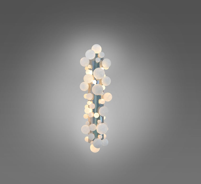 Bubble Rock Crystal Sconces by Phoenix In Excellent Condition For Sale In New York, NY