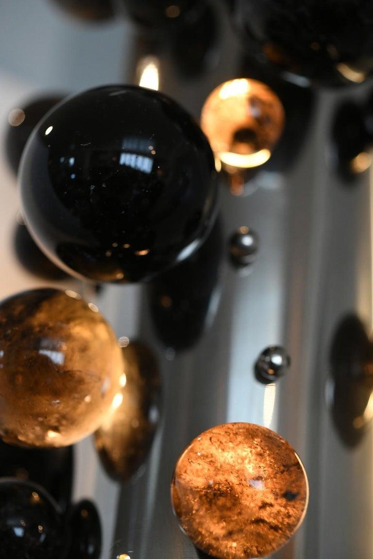 Quartz Bubble Rock Crystal Sconces by Phoenix For Sale