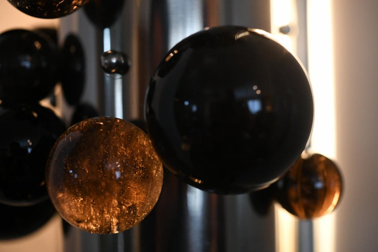 Bubble Rock Crystal Sconces by Phoenix For Sale 2