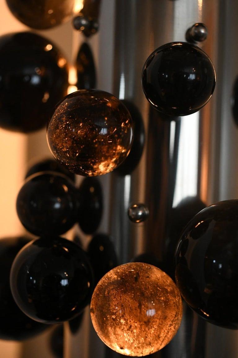 Bubble Rock Crystal Sconces by Phoenix For Sale 3