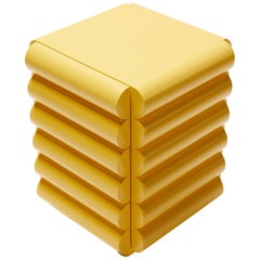 Bubble Side Table Chest of Drawers in Buttery Yellow by Steven Bukowski