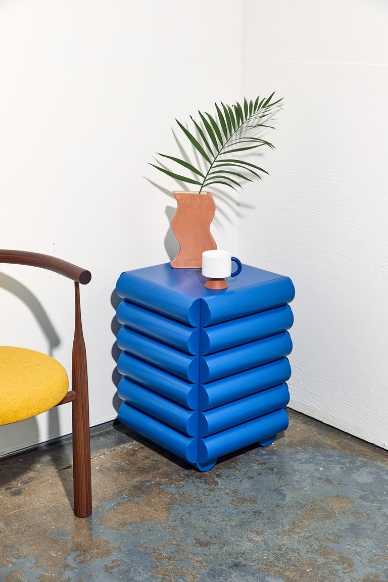 Bubble Side Table Chest of Drawers in Klein Blue by Steven Bukowski In New Condition For Sale In Brooklyn, NY