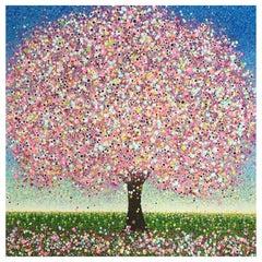 Bubblegum Summer, Contemporary Tree Painting