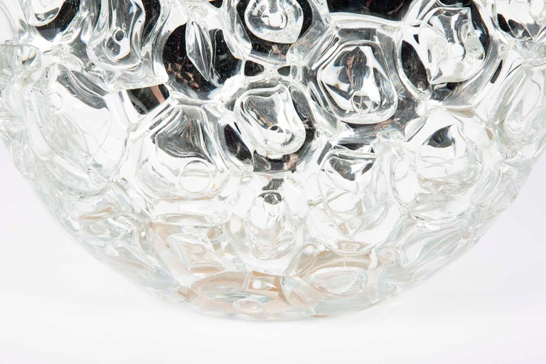 Hand-Crafted Bubblewrap in Clear, a Unique silver & clear glass Vase by Allister Malcolm For Sale
