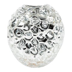 Bubblewrap in Clear, a Unique Artglass Vase by Allister Malcolm