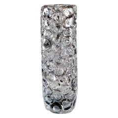 Bubblewrap in Monochrome II, a Silver and Clear Glass Vase by Allister Malcolm