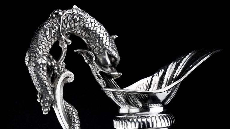 Buccelatti Antique Silver Wine Ewer, Made in Italy, circa 1900 For Sale 2