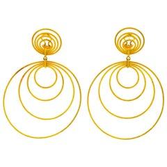 Buccellati 18 Karat Gold Hawaii Double-Drop Earrings