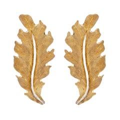 Buccellati 18 Karat Leaf Earring