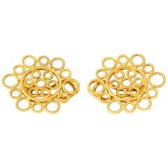 Buccellati 18 Karat Yellow Gold Circles Earrings