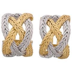 Buccellati 18 Karat Gold Woven-Wheat Earrings
