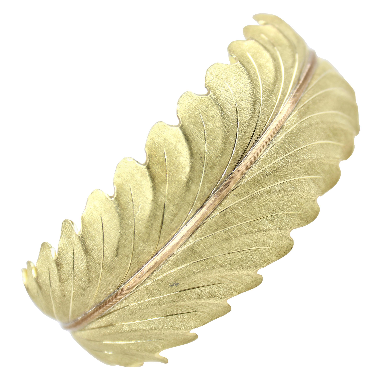 Buccellati 18K Leaf Cuff Bracelet
