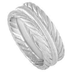 Buccellati 18k White Gold Band Ring