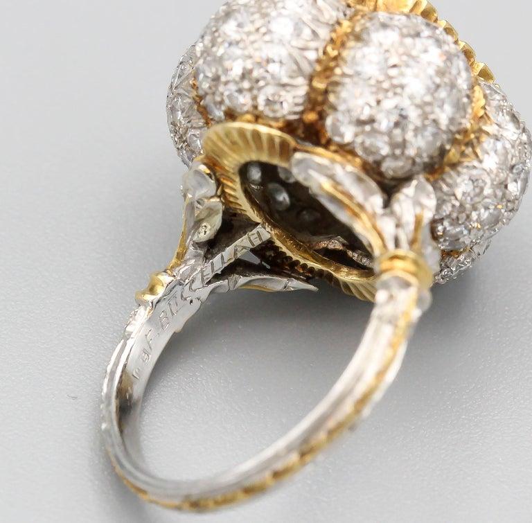 Buccellati 3 Carat Emerald Cut Diamond 18 Karat Gold Ring For Sale 5