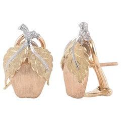 Buccellati Acorn Motif Earrings 18 Karat Gold