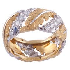 Buccellati Band with Diamonds in 18k Gold