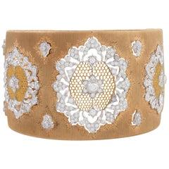 Buccellati Bi-Color Gold and Diamond Cuff