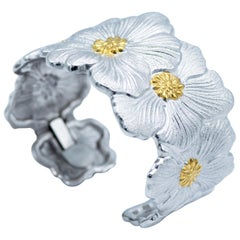 Buccellati Blossom with Gold Accents Cuff Bracelet