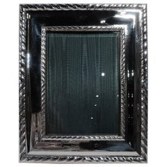 Buccellati Bold and Modern Classical Sterling Silver Picture Frame