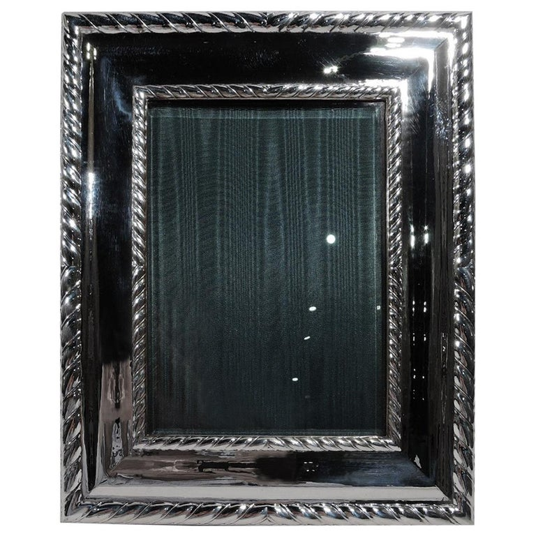 Buccellati Bold and Modern Classical Sterling Silver Picture Frame For Sale