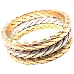 Buccellati Braided Tri-Color Gold Band Ring