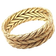 Buccellati Braided Yellow Gold Band Ring