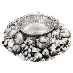 Buccellati Centerpiece Basket of Fruits, Silver Sterling, Mid 20th Century