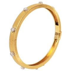 Buccellati 'Classica' Gold and Diamond Bangle
