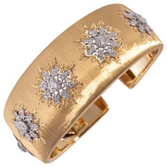 Buccellati Cuff with Diamonds in Gold