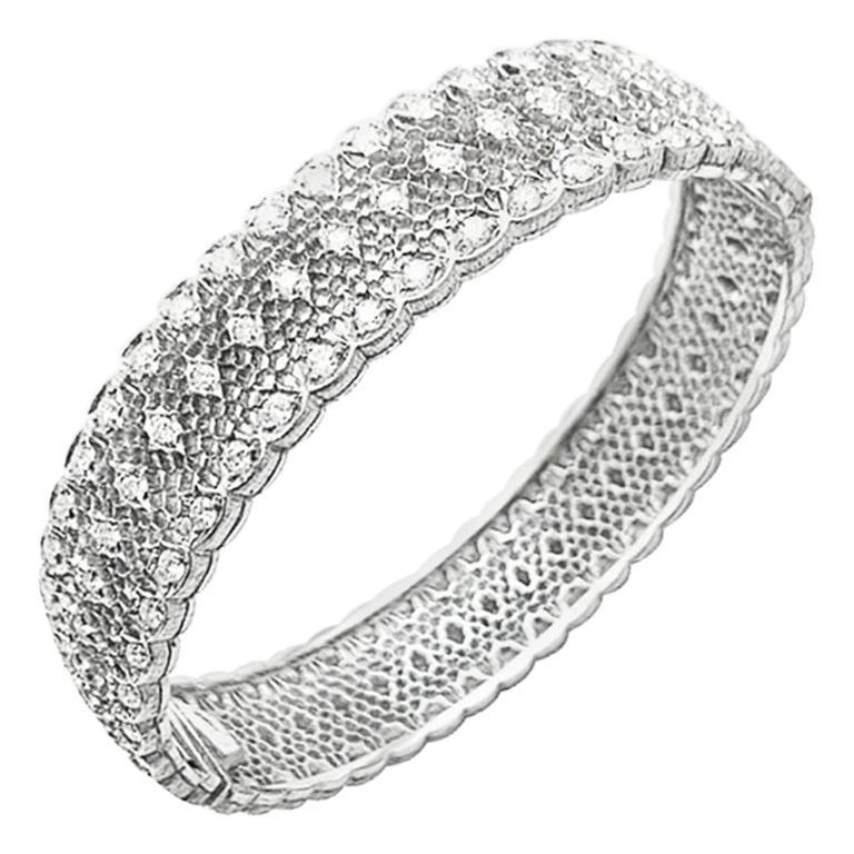 "Buccellati ""Dentelle"" Bracelet, White Gold and Diamonds"