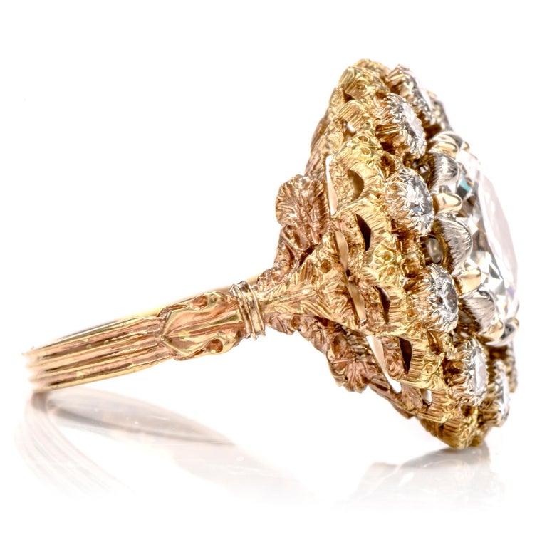 Women's or Men's Buccellati Diamond 18 Karat Cocktail Engagement Ring For Sale