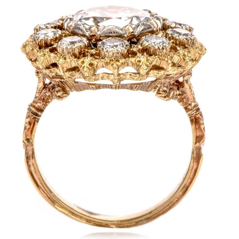 Buccellati Diamond 18 Karat Cocktail Engagement Ring For Sale 2