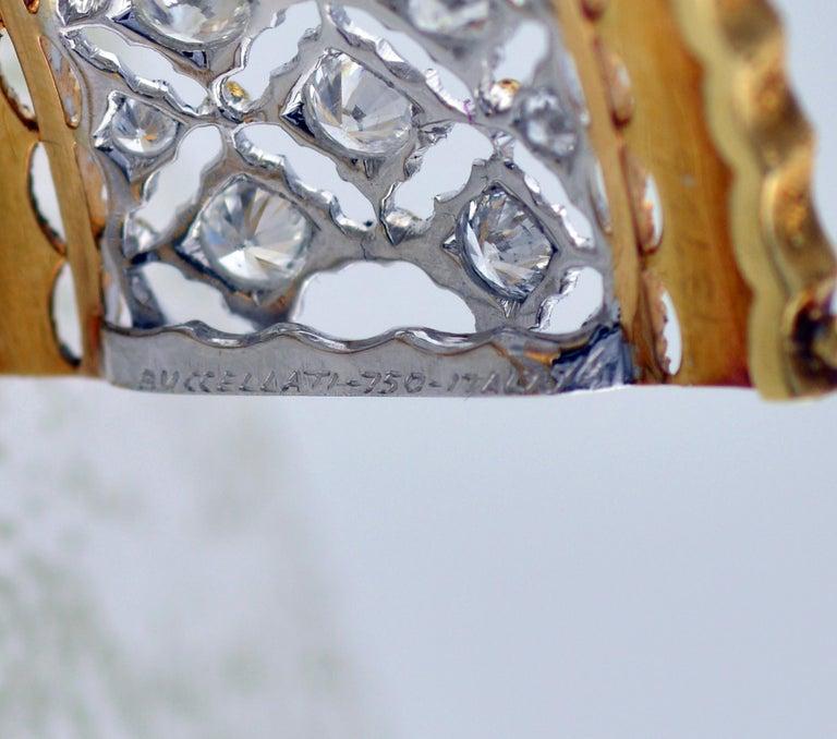 Buccellati Diamond and Gold Bangle Bracelet For Sale 1