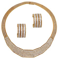 Buccellati Diamond Necklace and Earrings Set