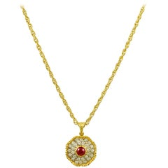 Buccellati Diamond, Ruby Pendant