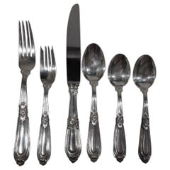 Buccellati Esteval Sterling Silver Dinner Set for 12 with 77 Pieces