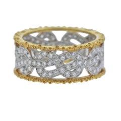 Buccellati Eternelle Diamond Gold Wedding Band Ring