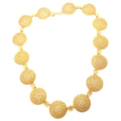 Buccellati Filidoro Yellow Gold Link Necklace
