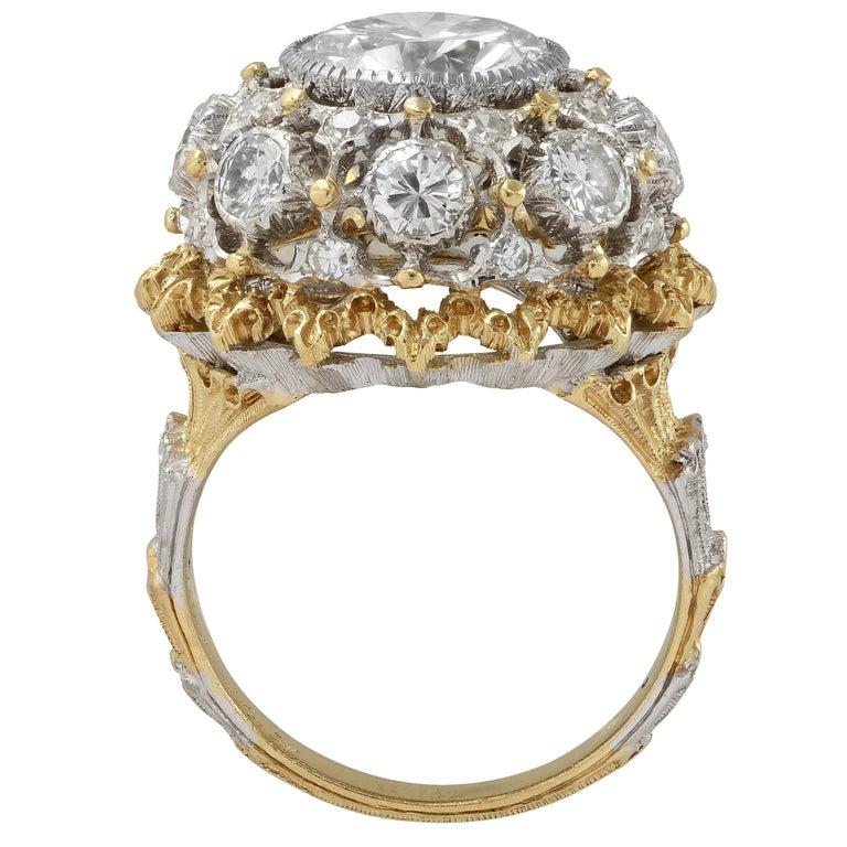 Buccellati GIA Certified 2.88 Carat Diamond Ring In Good Condition For Sale In Miami, FL