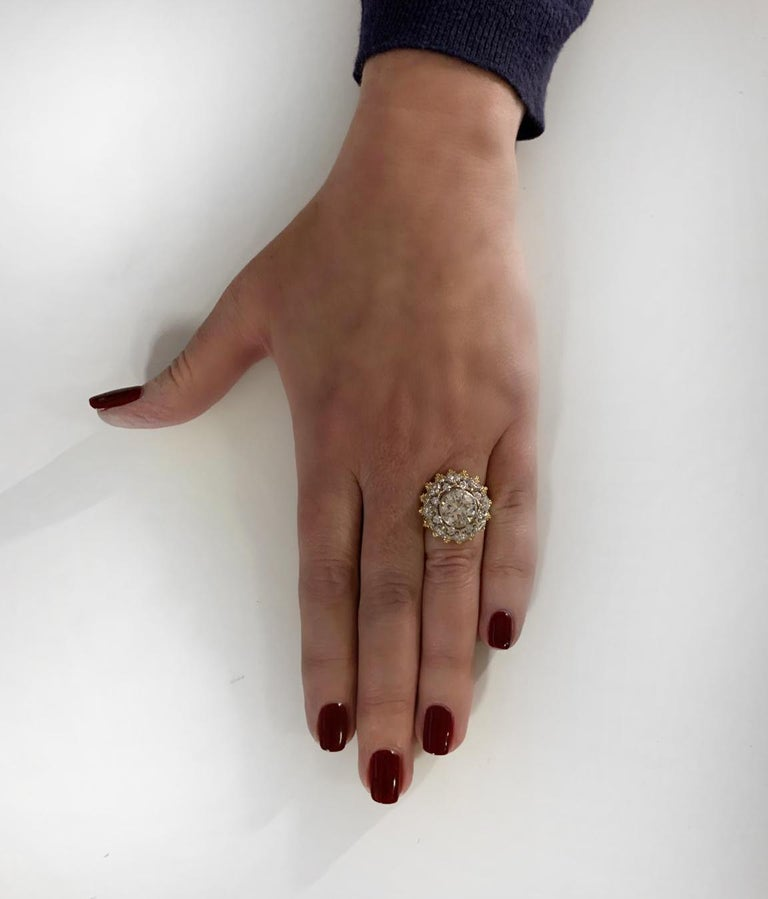 Women's Buccellati GIA Certified 2.88 Carat Diamond Ring For Sale