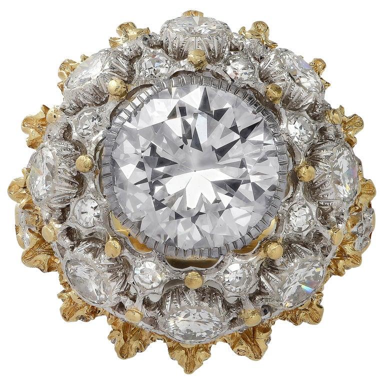 Buccellati GIA Certified 2.88 Carat Diamond Ring For Sale
