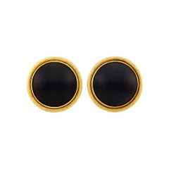 Buccellati Gold and Black Onyx Earrings