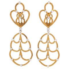 Buccellati Gold and Diamond Earrings