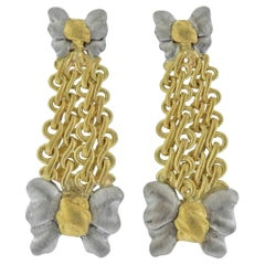 Buccellati Gold Bow Drop Earrings